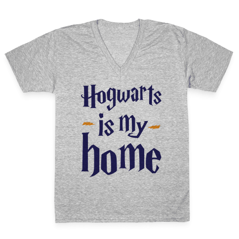 Hogwarts Is My Home V-Neck Tee Shirt