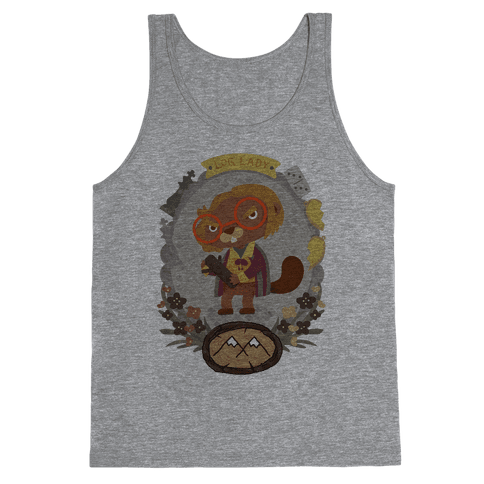 Log Lady Beaver Tank Top