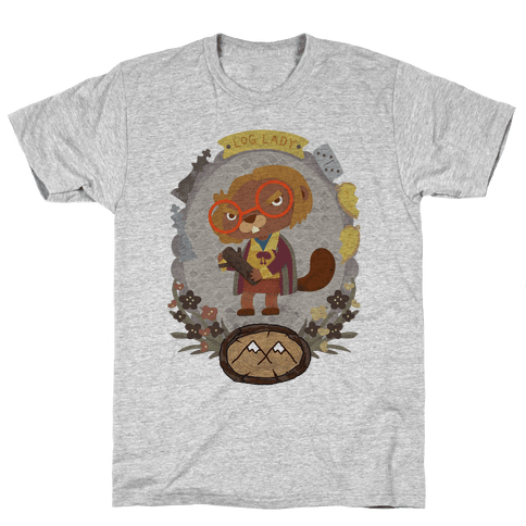 Log Lady Beaver Mens T-Shirt