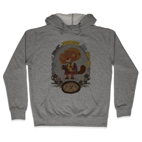 Log Lady Beaver Hooded Sweatshirt