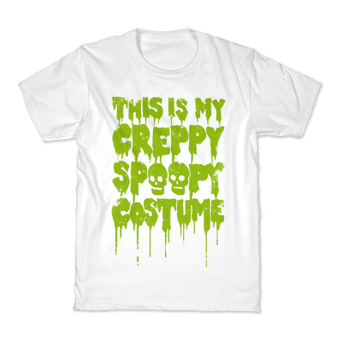 This Is My Creppy Spoopy Costume Kids T-Shirt
