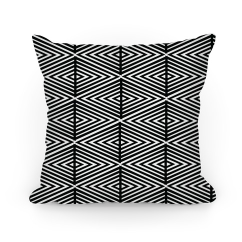 Geometric Diamond Pattern Pillow