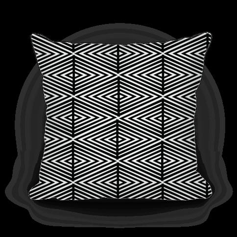 Geometric Diamond Pattern Pillow