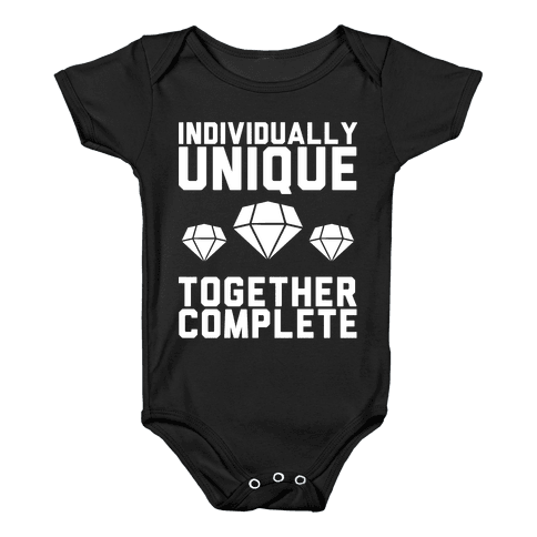 Individually Unique Together Complete Baby Onesy