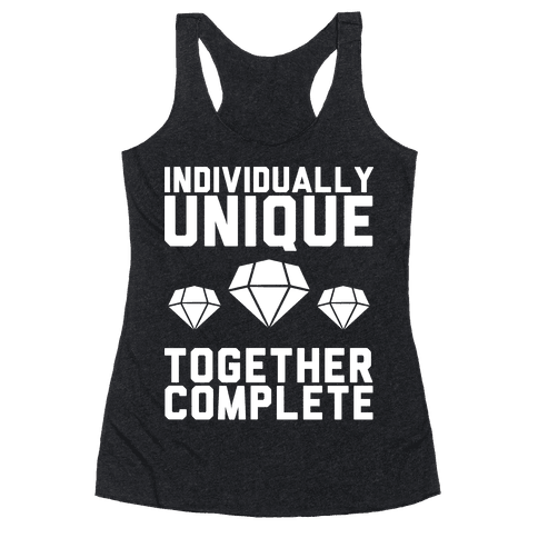 Individually Unique Together Complete Racerback Tank Top