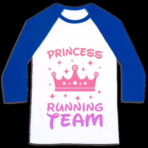 Princess Running Team Baseball Tee