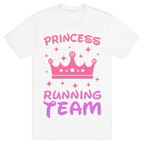 Princess Running Team Mens T-Shirt