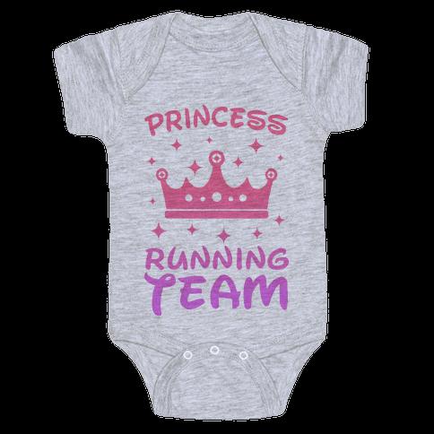 Princess Running Team Baby Onesy