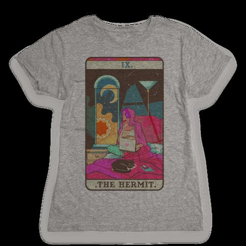 Hermit Tarot Card Womens T-Shirt