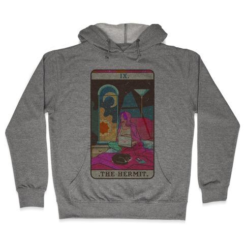 Hermit Tarot Card Hooded Sweatshirt