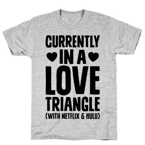 Love Triangle Mens T-Shirt