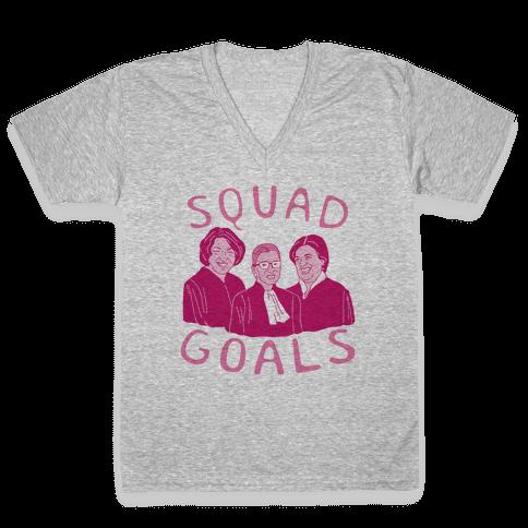 Squad Goals V-Neck Tee Shirt