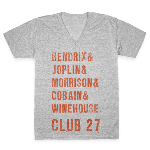 CLUB 27 V-Neck Tee Shirt
