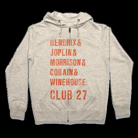 CLUB 27 Zip Hoodie