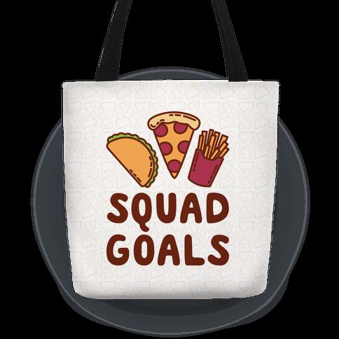 01802d4d0e Junk Food Squad Goals Tote Bag