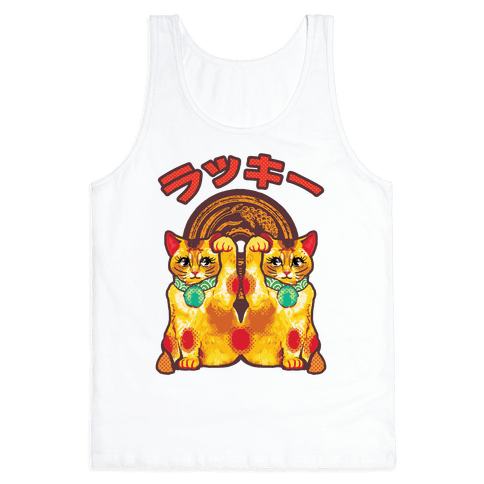 Lucky Cat Pop Art Tank Top