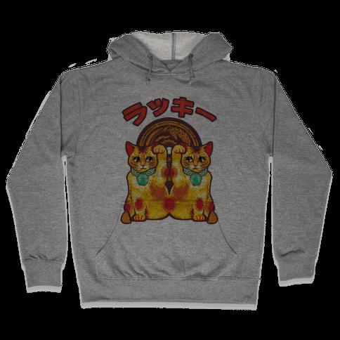 Lucky Cat Pop Art Hooded Sweatshirt