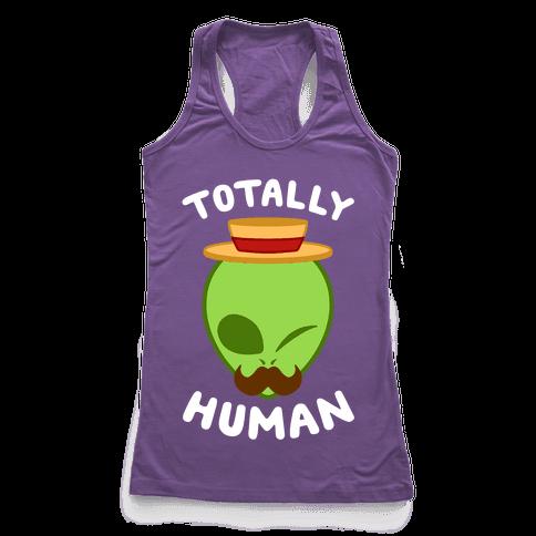 Totally Human Racerback Tank Top