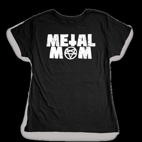 Metal Mom Womens T-Shirt