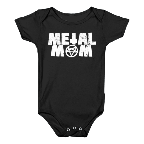 Metal Mom Baby Onesy