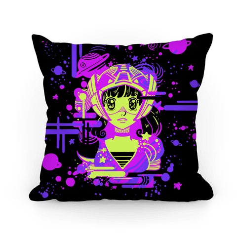 Neon Anime Space Cadet Pillow