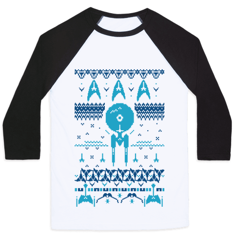 Captain's Ugly Sweater Baseball Tee