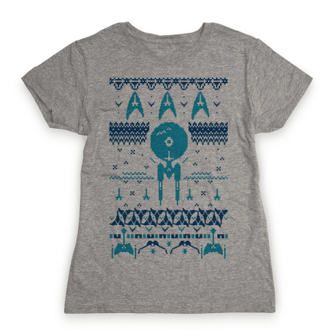 Captain's Ugly Sweater Womens T-Shirt