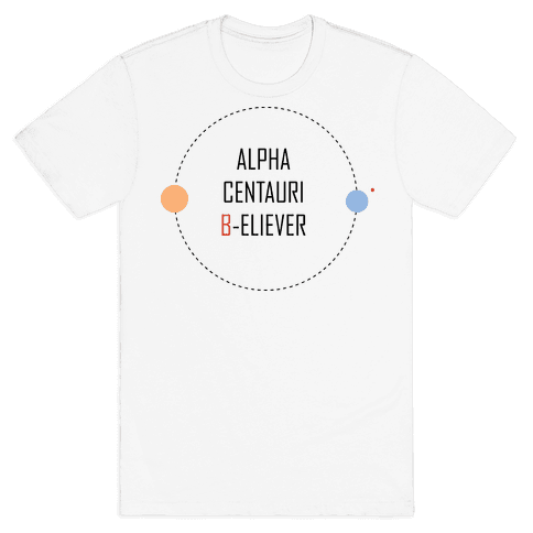 Alpha Centauri B-eliever Mens T-Shirt