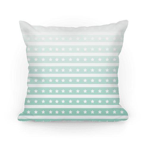 Mint Ombre Stars and Stripes Pattern