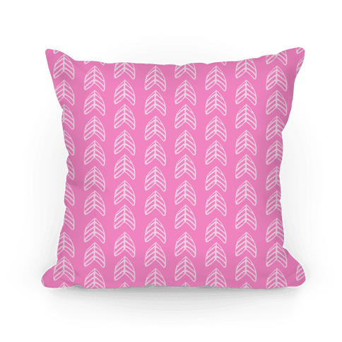 Pink Trendy Chevron Pattern Pillow