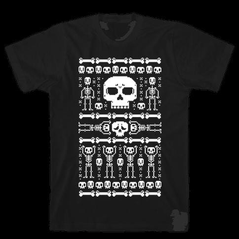 Ugly Skeleton Sweater Mens T-Shirt