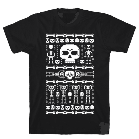 Ugly Skeleton Sweater Mens T-Shirt