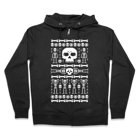 Ugly Skeleton Sweater Zip Hoodie