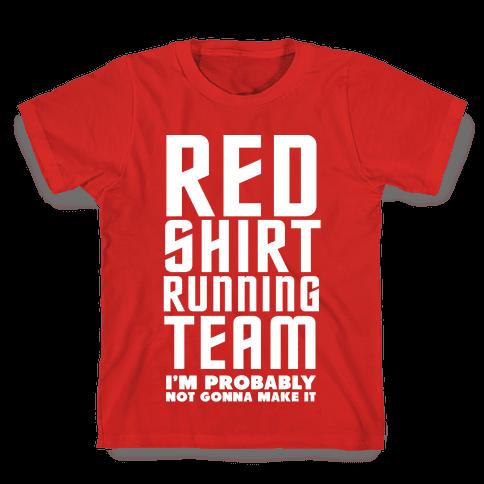 Red Shirt Running Team Kids T-Shirt