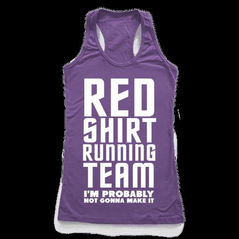 Red Shirt Running Team Racerback Tank Top