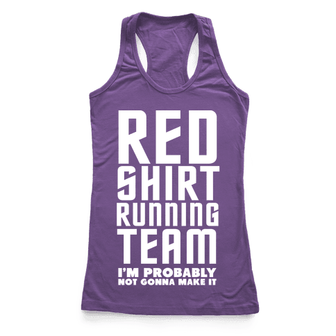 Red Shirt Running Team Racerback Tank Top