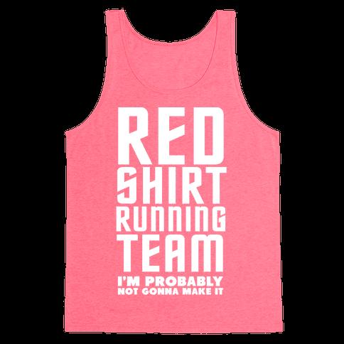Red Shirt Running Team Tank Top