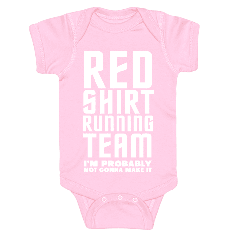 Red Shirt Running Team Baby Onesy