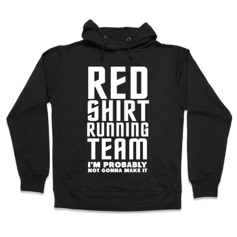 Red Shirt Running Team Hooded Sweatshirt