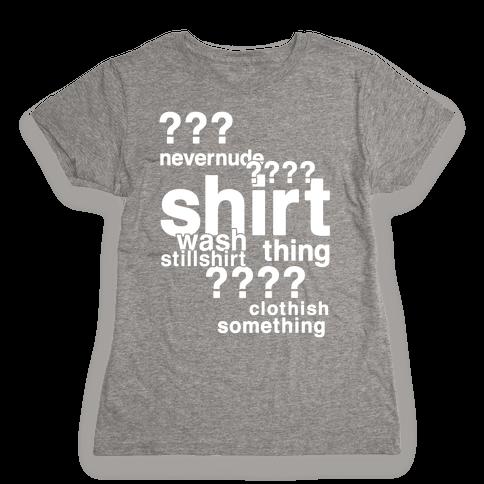 Sherlock Drunk Observations Shirt Womens T-Shirt