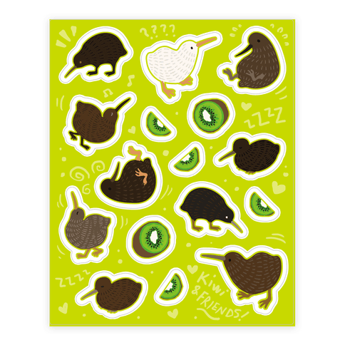 Kiwi Pattern  Sticker/Decal Sheet