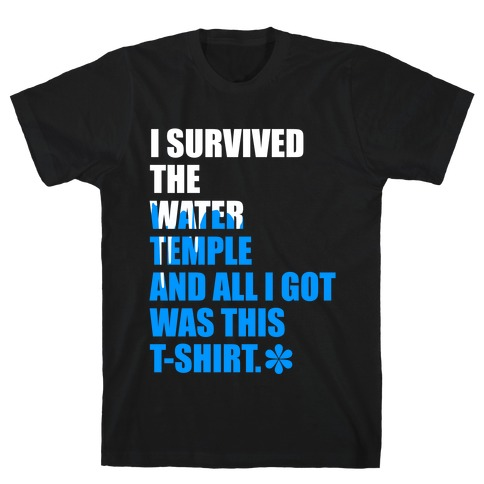 I Survived The Water Temple Mens T-Shirt