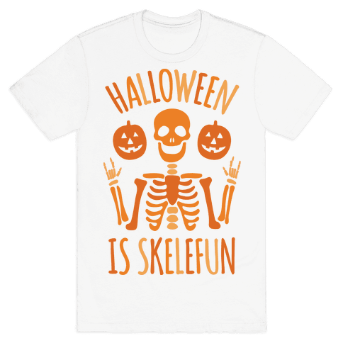 Halloween Is SkeleFUN Mens T-Shirt
