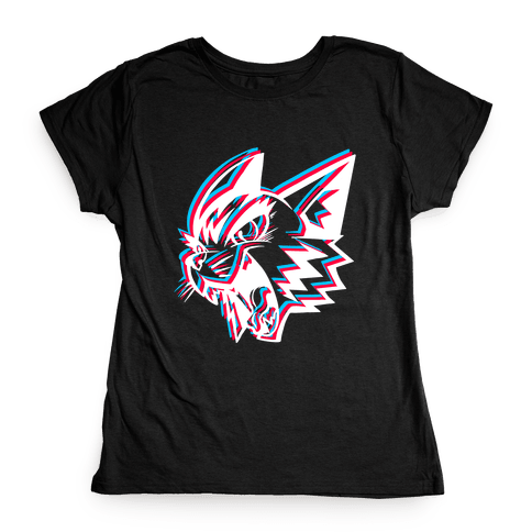 Electric Cat Womens T-Shirt