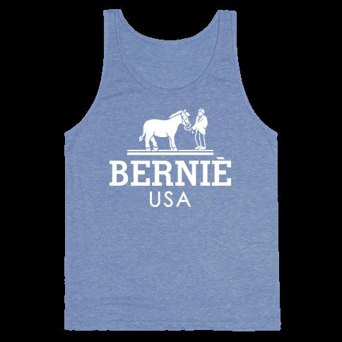 Bernie Sanders USA Fashion Parody/ Tank Top