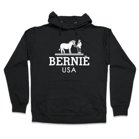 Bernie Sanders USA Fashion Parody/ Hooded Sweatshirt