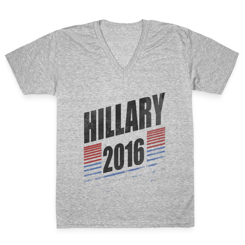 Hillary Clinton 2016 V-Neck Tee Shirt