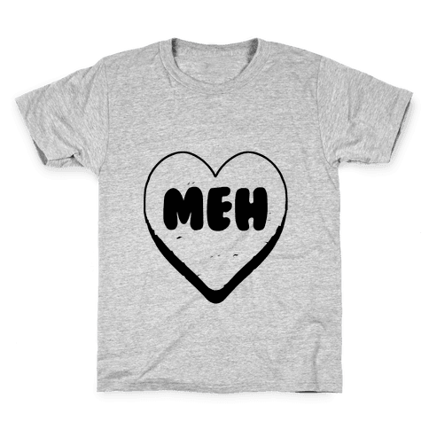 Valentine's Day Heart Meh Kids T-Shirt