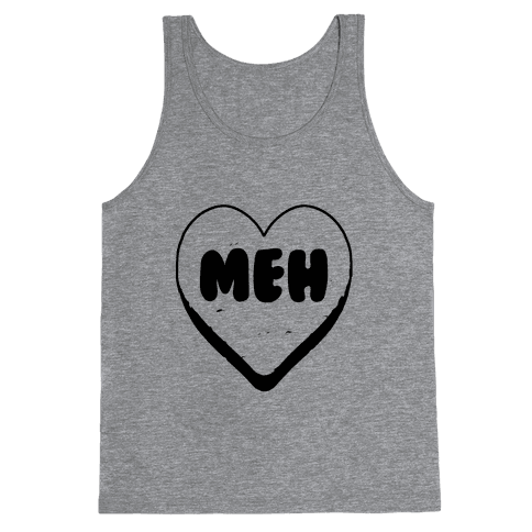 Valentine's Day Heart Meh Tank Top
