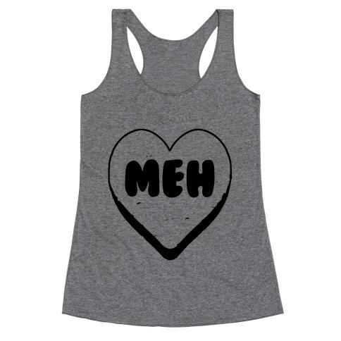Valentine's Day Heart Meh Racerback Tank Top